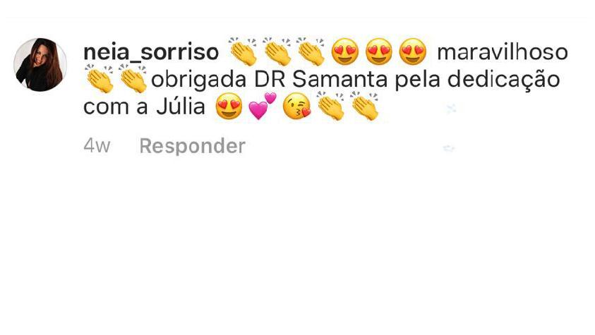 Depoimentos Dra Samanta